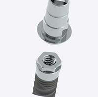 Base de titanio + implante Pearl